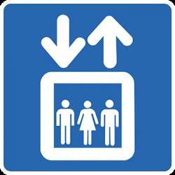 Sticker Panneau Monte-Charge