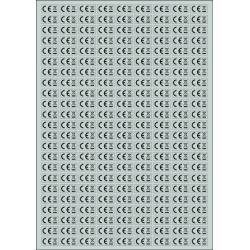 Sticker Panneau Plquette A4 De 207 Stickers CE