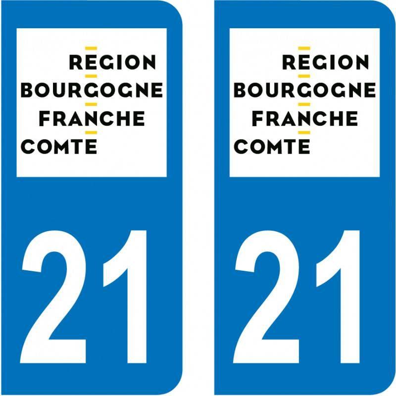 Autocollant Plaque 21 Côte d'Or