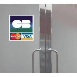 Autocollant Panneau Carte Bleue Master Card Visa