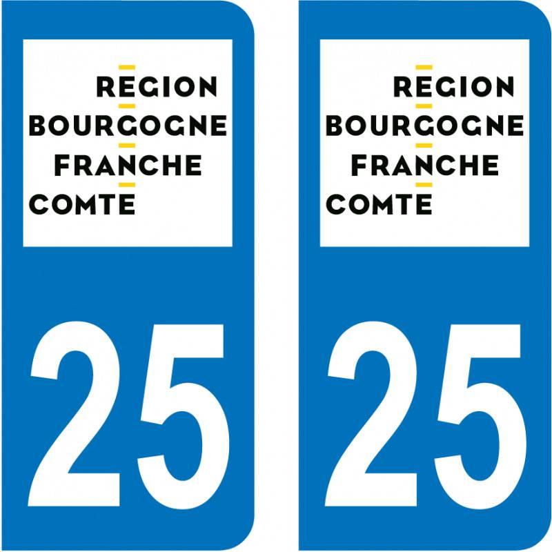 Autocollant Plaque 25 Doubs