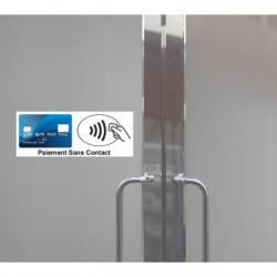 Autocollant Panneau Paiement Sans Contact NFC Carte Bleu
