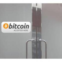 Autocollant Panneau Bitcoin Accepted Here