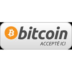 Sticker Panneau Bitcoin Accepté ici