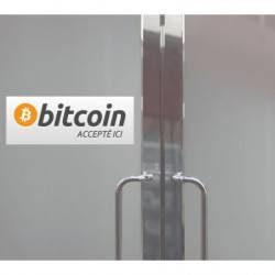 Autocollant Panneau Bitcoin Accepté ici
