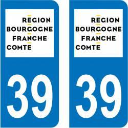 Autocollant Plaque 39 Jura