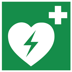 Sticker Panneau Défibrillateur Externe Automatisé
