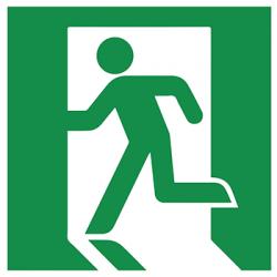 Sticker Panneau Sortie Et Issue De Secours - Droite & Gauche