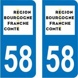 Autocollant Plaque 58 Nièvre