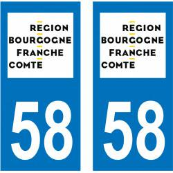 Sticker Plaque 58 Nièvre