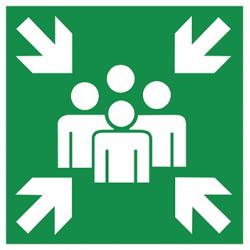 Sticker Panneau Point De Rassemblement