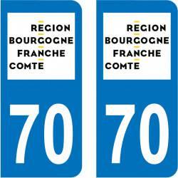 Autocollant Plaque 70 Haute-Saône