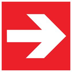 Sticker Panneau Flèche Directionnelle Incendie - Doite & Gauche