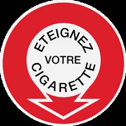 Sticker Panneau Eteignez Votre Cigarette