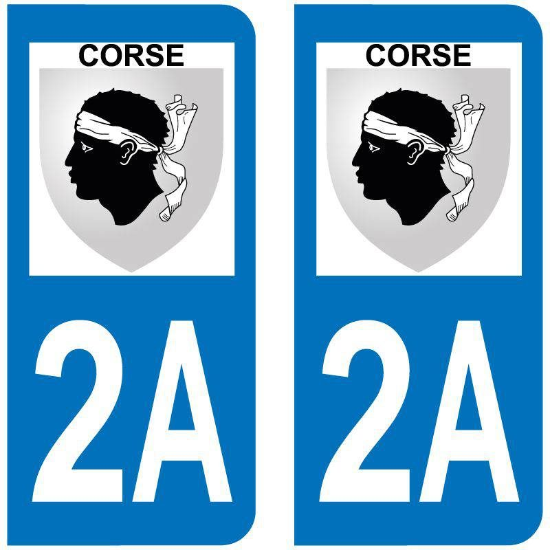 Sticker Plaque 2A Corse Du Sud Blason