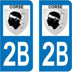 Sticker Plaque 2B Haute Corse Blason