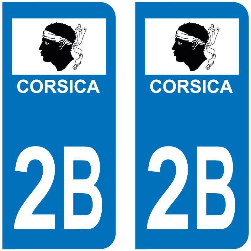Sticker Plaque 2B Haute Corse Flag