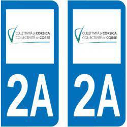 Sticker Plaque 2A Corse Du Sud Collectivité De Corse
