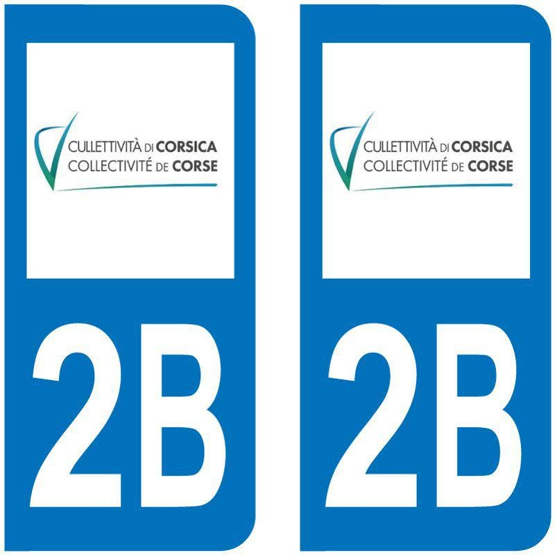 Sticker Plaque 2B Haute Corse Collectivité De Corse