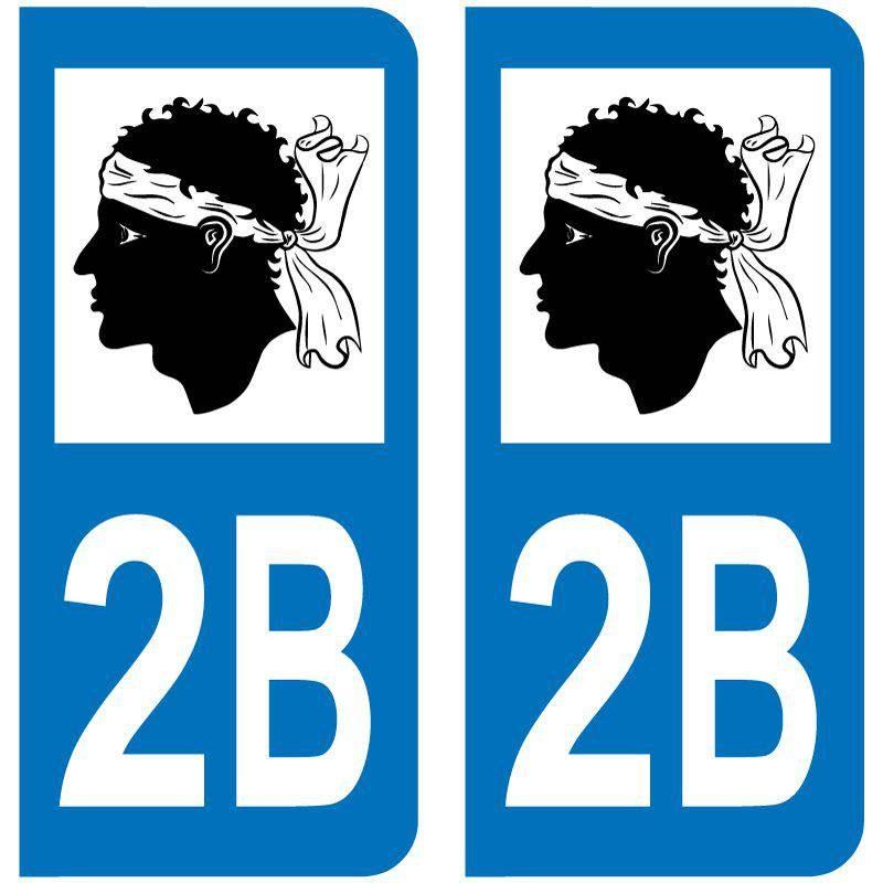 Sticker Plaque 2B Haute Corse Maure