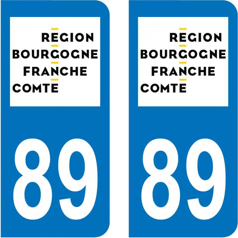 Autocollant Plaque 89 Yonne