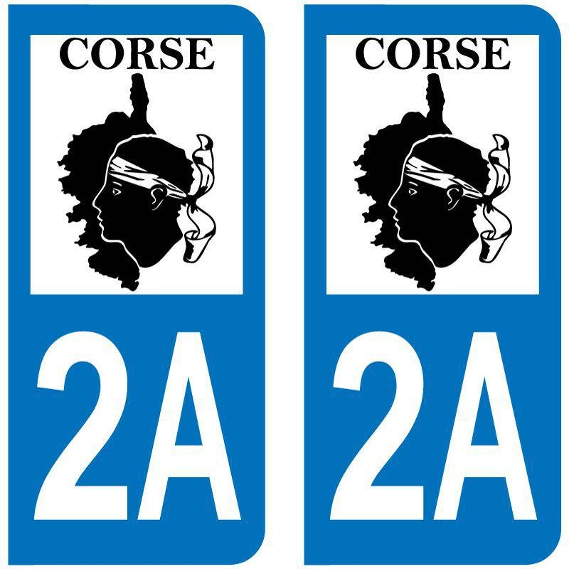 Sticker Plaque 2A Corse Du Sud Map Corse