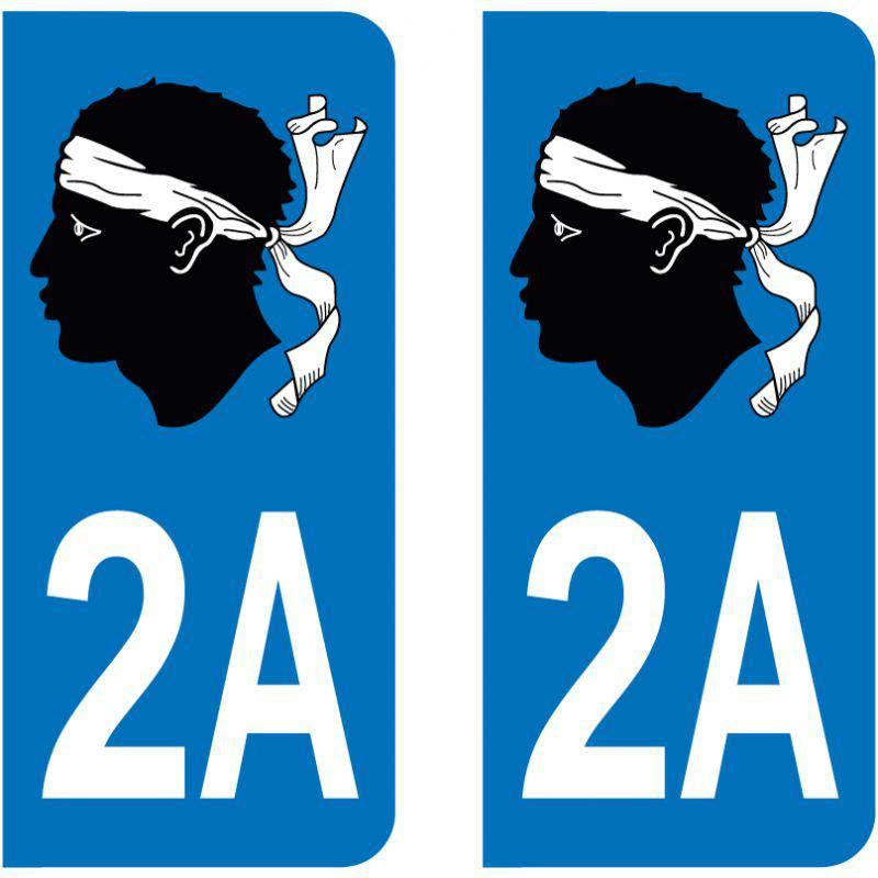 Sticker Plaque 2A Corse Du Sud Tête De Maure