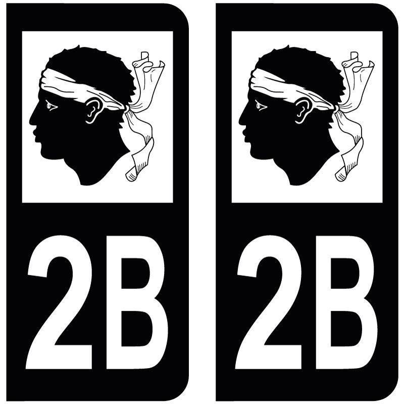 Sticker Plaque 2B Haute Corse Black