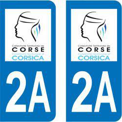 Sticker Plaque 2A Corse Du Sud Corse