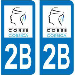 Sticker Plaque 2B Haute Corse Corse
