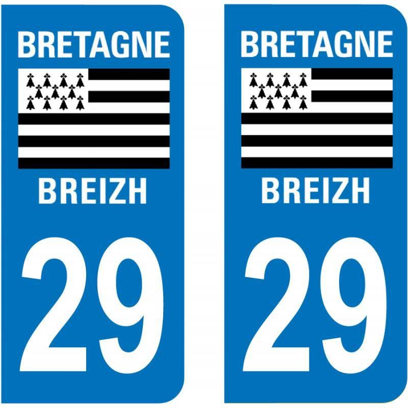 Sticker Plaque 29 Finistère