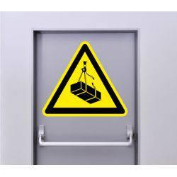 Autocollant Signalisation Panneau Danger Charge Suspendue