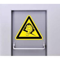 Autocollant Signalisation Panneau Danger Niveau Sonore