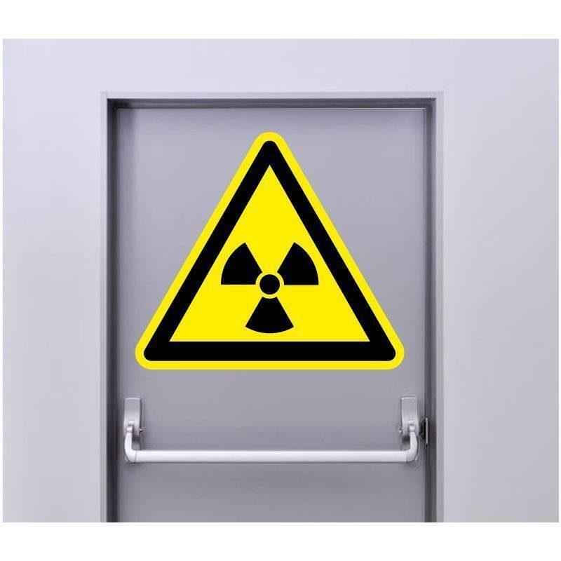 Autocollant Signalisation Panneau Danger Radioactivité