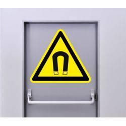 Autocollant Signalisation Panneau Danger Champ magnétique