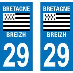 Autocollant Plaque 29 Finistère