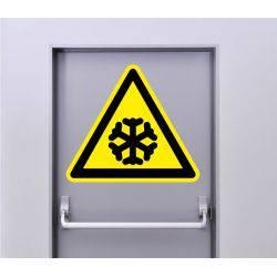 Autocollant Signalisation Panneau Danger Basse Température