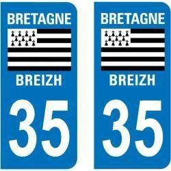 Sticker Plaque 35 Ille et Vilaine