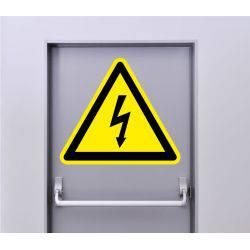 Autocollant Signalisation Panneau Danger Electrique