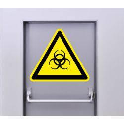 Autocollant Signalisation Panneau Danger Biologique