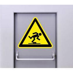 Autocollant Signalisation Panneau Danger Risque de chute