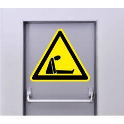 Autocollant Signalisation Panneau Danger Risque d'asphyxie