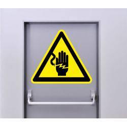 Autocollant Signalisation Panneau Danger Risque De Choc Electrique