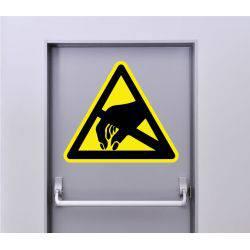 Autocollant Signalisation Panneau Danger Décharge électrostatique