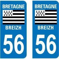 Sticker Plaque 56 Morbihan