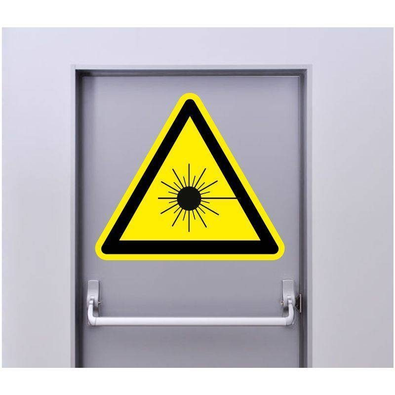 Autocollant Signalisation Panneau Danger Laser rayonnant