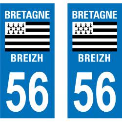 Autocollant Plaque 56 Morbihan