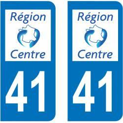 Autocollant Plaque 41 Loir et Cher
