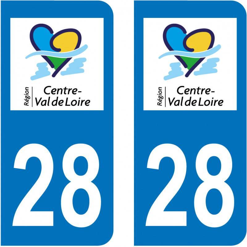 Autocollant Plaque 28 Eure et Loir