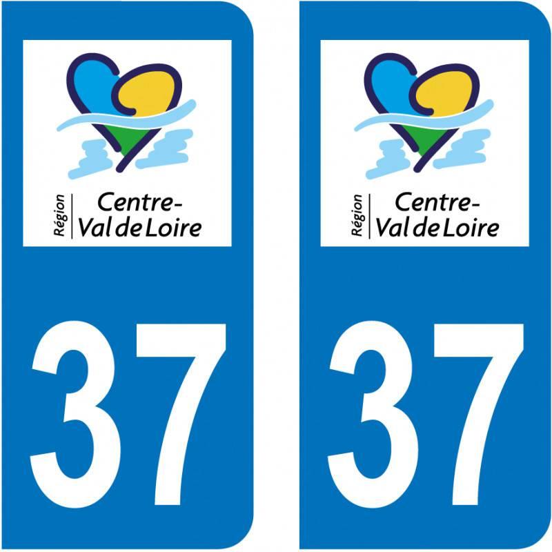 Autocollant Plaque 37 Indre et Loire